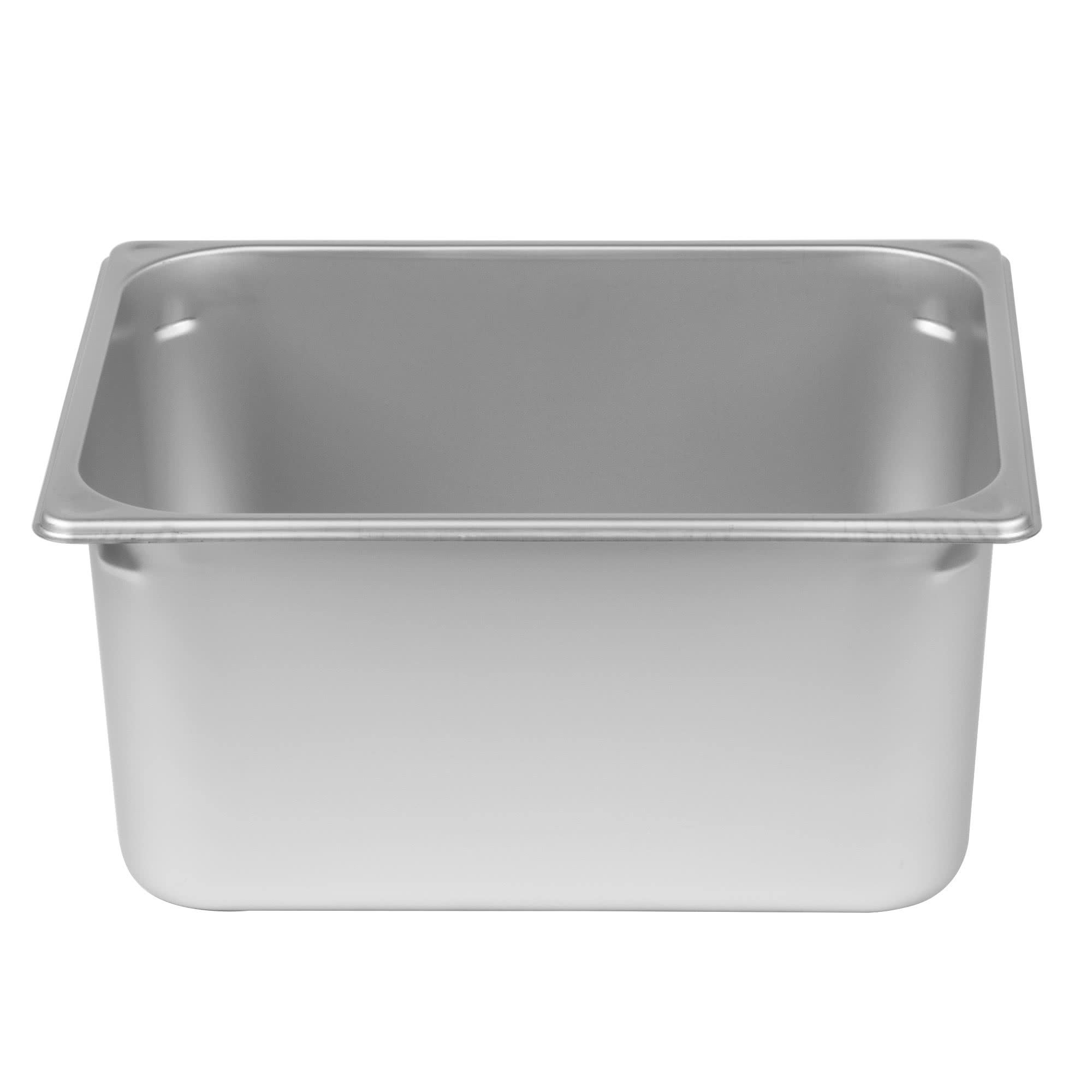 TableTop King 1/2 Size Anti-Jam Stainless Steel Steam Table / Hotel Pan - 6'' Deep