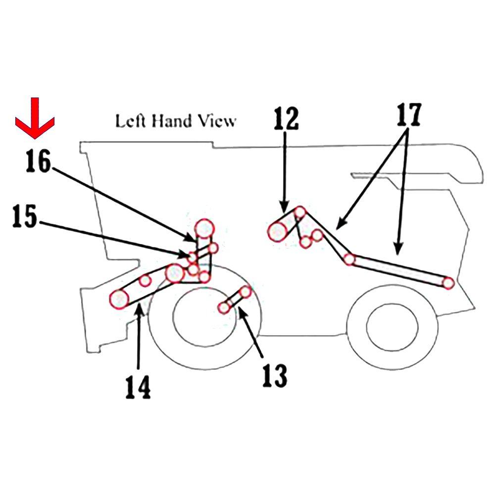 Amazon.com: H125565 New Header & Reel Pump Belt for John ... on