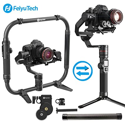 FeiyuTech AK4000 3-Axis Gimbal Stabilizer Payload 4 KG for Mirrorless &  DSLR Camera Sony Canon Panasonic Nikon Smart Touch Panel Free Follow Focus