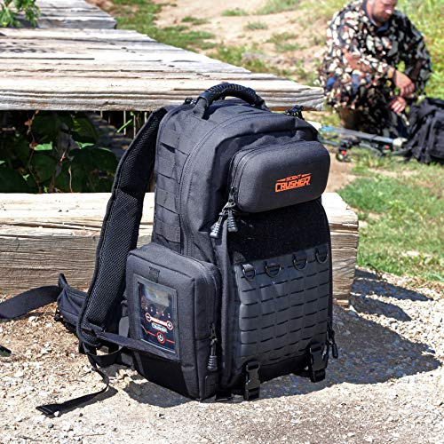 Scent Crusher Pro Series Hunter's Pack with Ozone Generator - Destroys Odors within 30 mins., Lockable YKK Zippers, Ergonomic Padded Air-Mesh Back Panel, Airport/TSA Compliant