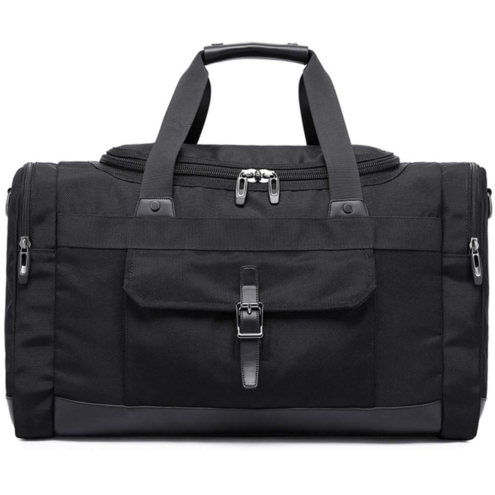 SHUAIJIE,Oversized Canvas,Genuine Leather Trim,Travel Tote Duffel,Shoulder Overnight Weekend Bag