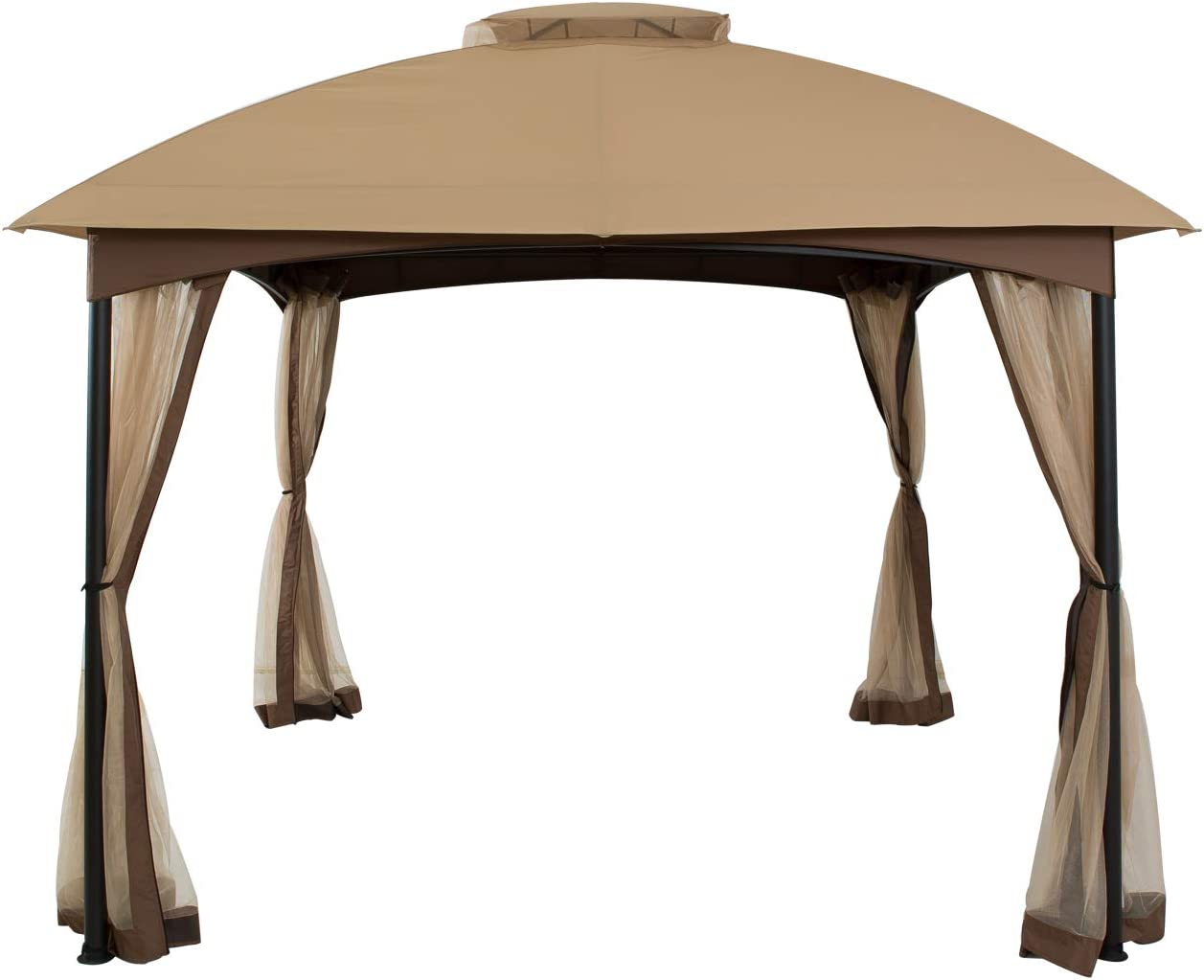 FAB BASED 10'x10' Gazebos for Patios Waterproof ,Double Vent Canopy for Patio with Mosquito Net Patio Canopy for Garden