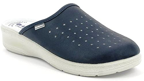 INBLU Pantofole Ciabatte SANITARIE da Donna MOD. 50-33 Blu  Amazon ... 71f0e13c714