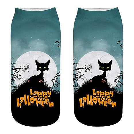 SinceY – Calcetines Mujer 3D impresión Calcetines Mujer Fantasía una Talla Ideas Halloween atmósfera de Terror