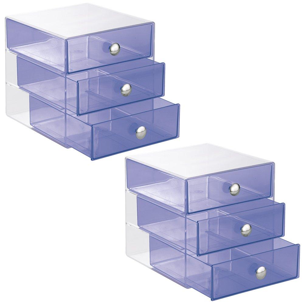 InterDesign 3 Drawer Organizer Cosmetics Products Image 1
