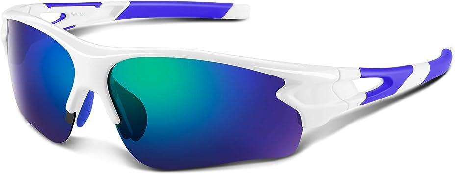 Gafas de Sol Polarizadas - Bea·CooL Gafas de Sol Deportivas Unisex Protección UV con Monturas Ligeras para Esquiando Ciclismo Carrera Surf Golf Conduciendo (Azul blanco): Amazon.es: Deportes y aire libre