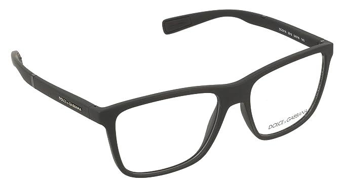 Dolce   Gabbana Montures de lunettes Pour Homme 5016 - 2616  Rubber Black -  54mm  Amazon.fr  Vêtements et accessoires dfa272390184