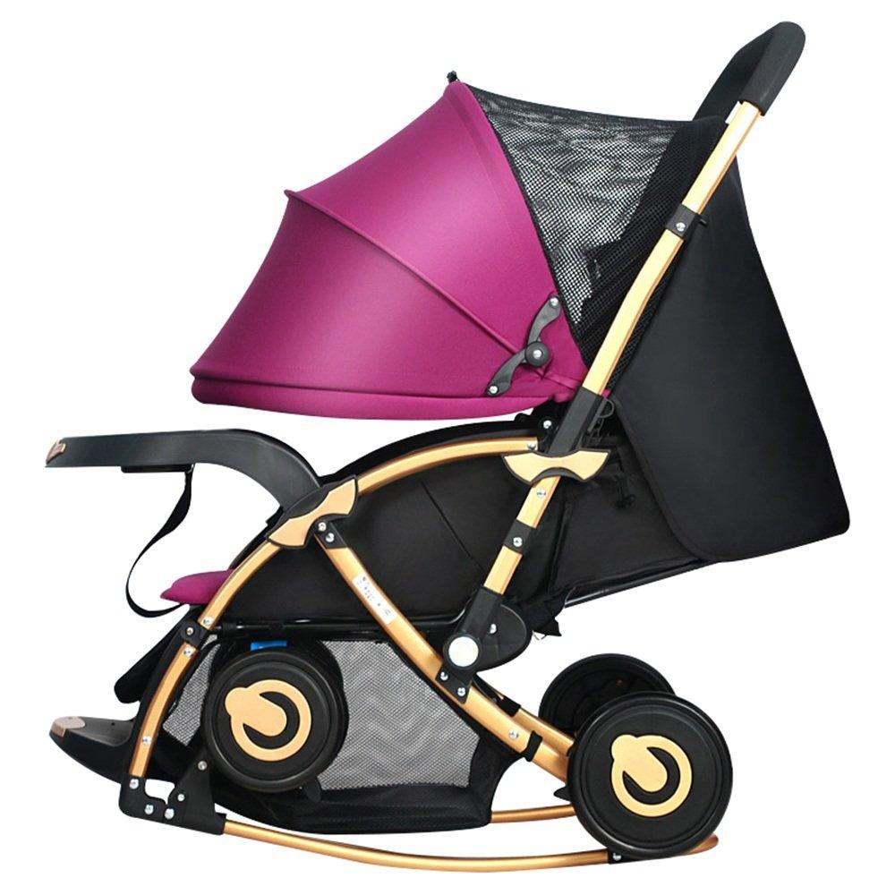 HAIZHEN マウンテンバイク 多機能乳母車ベビーベビーカーロッキングチェアトロリー座るとリクライニング双方向サスペンション 新生児 B07CCKTZQMパープル ぱ゜ぷる