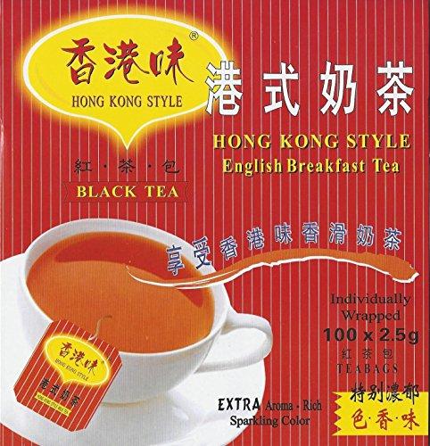 Hong Kong Style Black Tea (100 Tea Bags) English Breakfast Tea (Style Tea English)