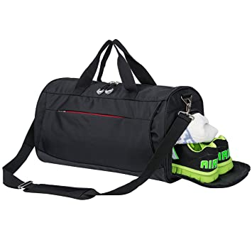 Sports Gym Bag With Shoes Compartment Travel Duffel For Men And Women