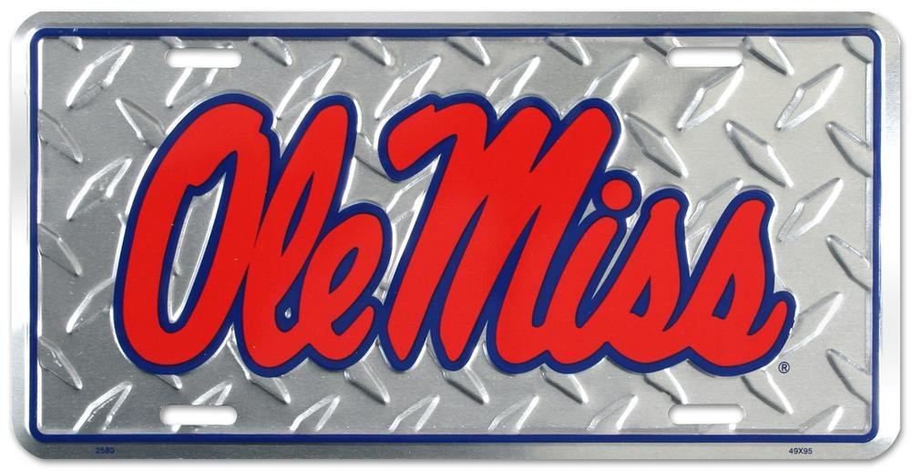 College-NCAA Ole Miss Rebels Elite License Plate
