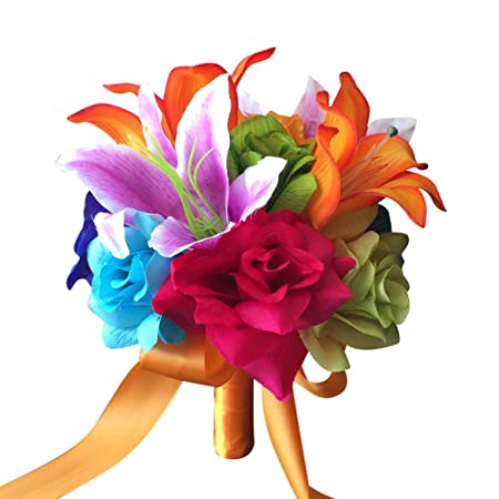8 Colorful Wedding Bouquet Perfect For Rainbow Wedding