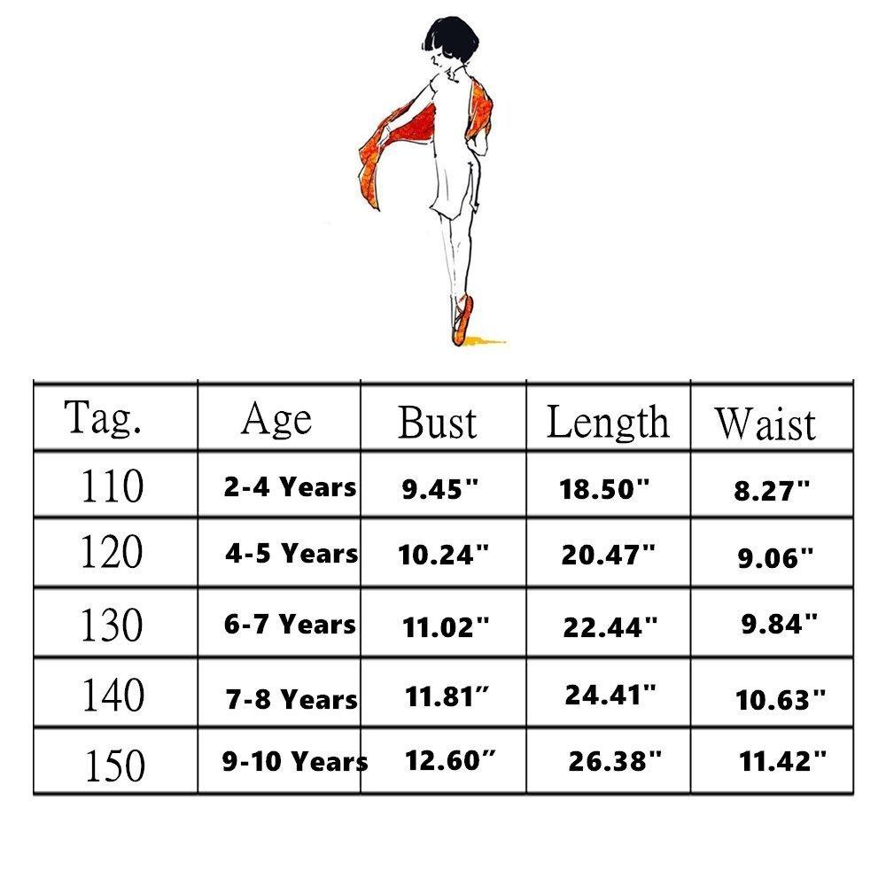 Turnanzug M/ädchen /Ärmelloses Kinder Ballett tanzkleid Ballettr/öckchen Kleid Trikotanzug Tanz Kleid Ballettr/öckchen Gymnastik Trikotanzug Akrobatik Training Dancewear 9-10Jahre , Rosy 150