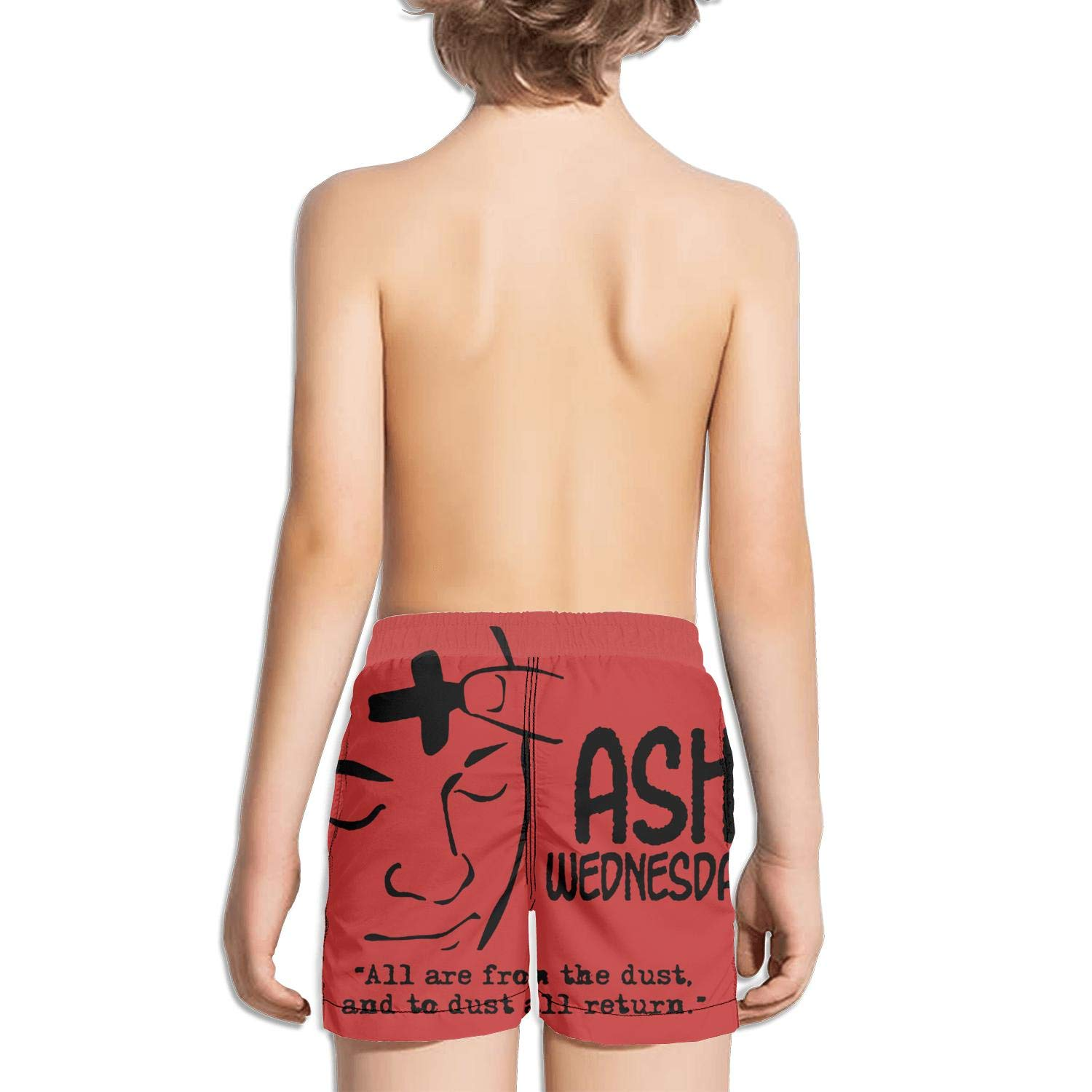 Ash Wednesday Forehead Painting Cross Kids Quick Dry Adjustable String Swim Shorts