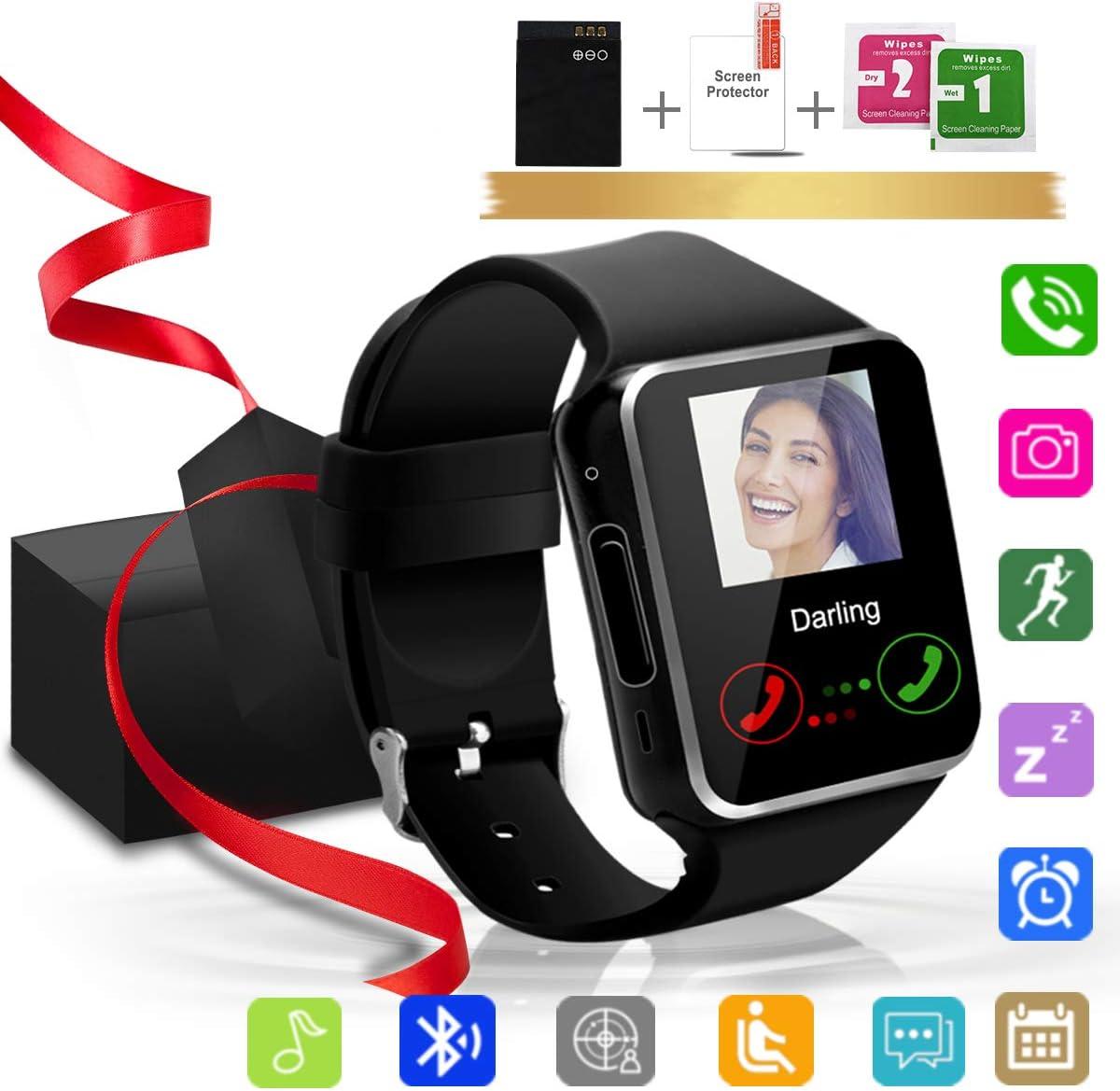 Montre de Sport avec podom/ètre Enfants Compteur de Calories pour Femmes SQUAREDO Montre Intelligente avec /écran Tactile et Bracelets Hommes