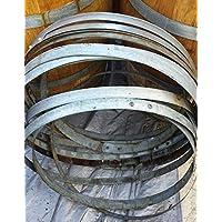 12 (One Dozen) Authentic Used Wine Barrel Hoop Bands