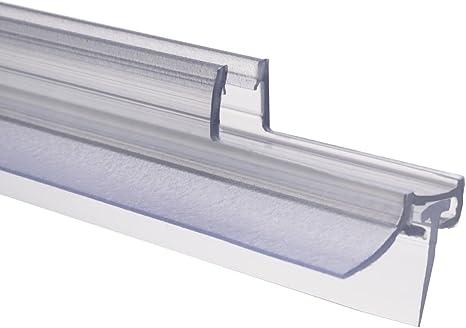 Schulte 4056397002192 - Junta para mampara ducha, repele el agua, reborde de estanqueidad de 6 mm, 100 cm, 1 unidad, transparente.: Amazon.es: Bricolaje y herramientas