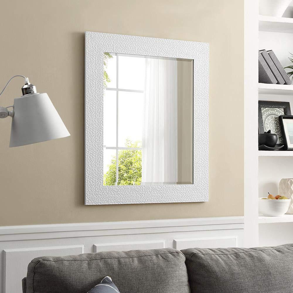 Naomi Home Mosaic Style Wall Mirror White