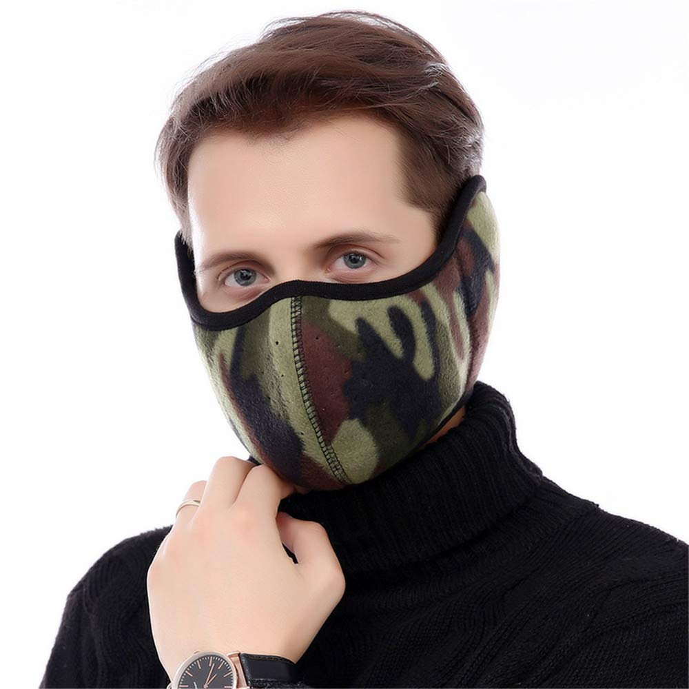 MEILI Outdoor Riding Windproof Warm Mask Cold Protection Face Mask Breathable Ear Protection Thickening, Gray, Female
