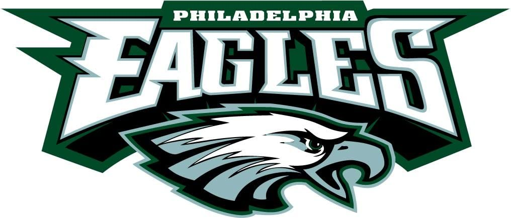 - Philadelphia Eagles NFL Football Sport Set of 2 Decal 14'' X 6''