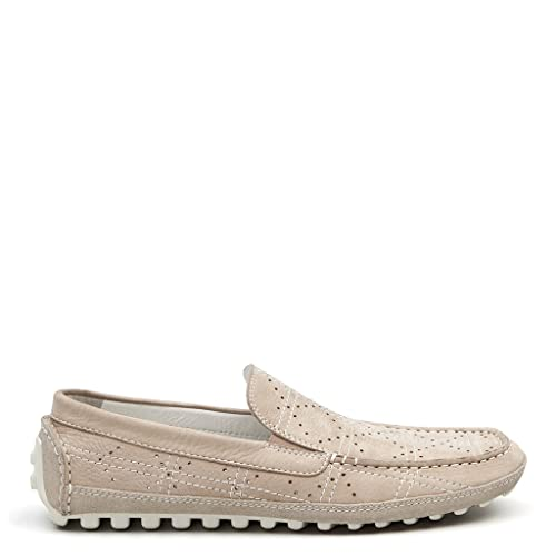 2ffe2078f8 TJ Collection Men s Perforated Leather Summer Moccasins  Amazon.co.uk  Shoes    Bags