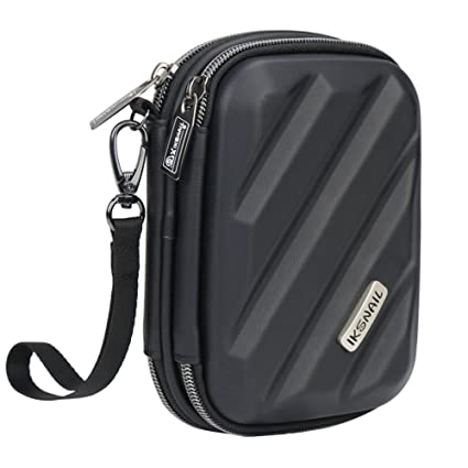 0f705b97dd70 iksnail Electronics Organizer Travel Case, Hard Gadget Accessories Storage  Bag Double Layer Carrying Pouch for USB Cable, SD Card, USB Drive, Hard ...