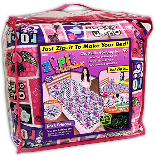 Zipit Bedding COMIN18JU009059 Rocking Princess Bedding (Deluxe Twin Bedding Set)