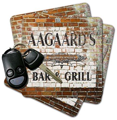 AAGAARD'S Bar & Grill Brick Wall Coasters - Set of 4