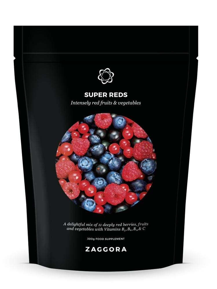 Zaggora Red Superfood Powder Supplement - Mix of 11 Purely Red Fruits and Vegetables - Super Red, 10.6 oz (30 Servings)