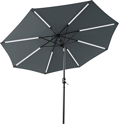 ABCCANOPY 9FT Patio Umbrella Solar Powered Outdoor Umbrella