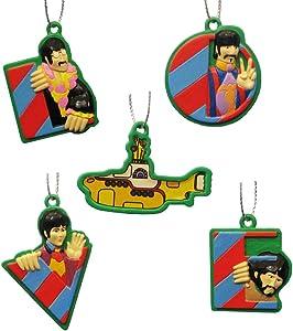 Kurt Adler Beatles Submarine Mini Ornament, Set of 5