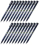 Tombow Fudenosuke Brush Pen (GCD-111), Hard Tip, Blue Body, Value Set of 20