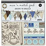 Canvas Corp Canvas Mix and Match Pad, 12'', Snips and Snails