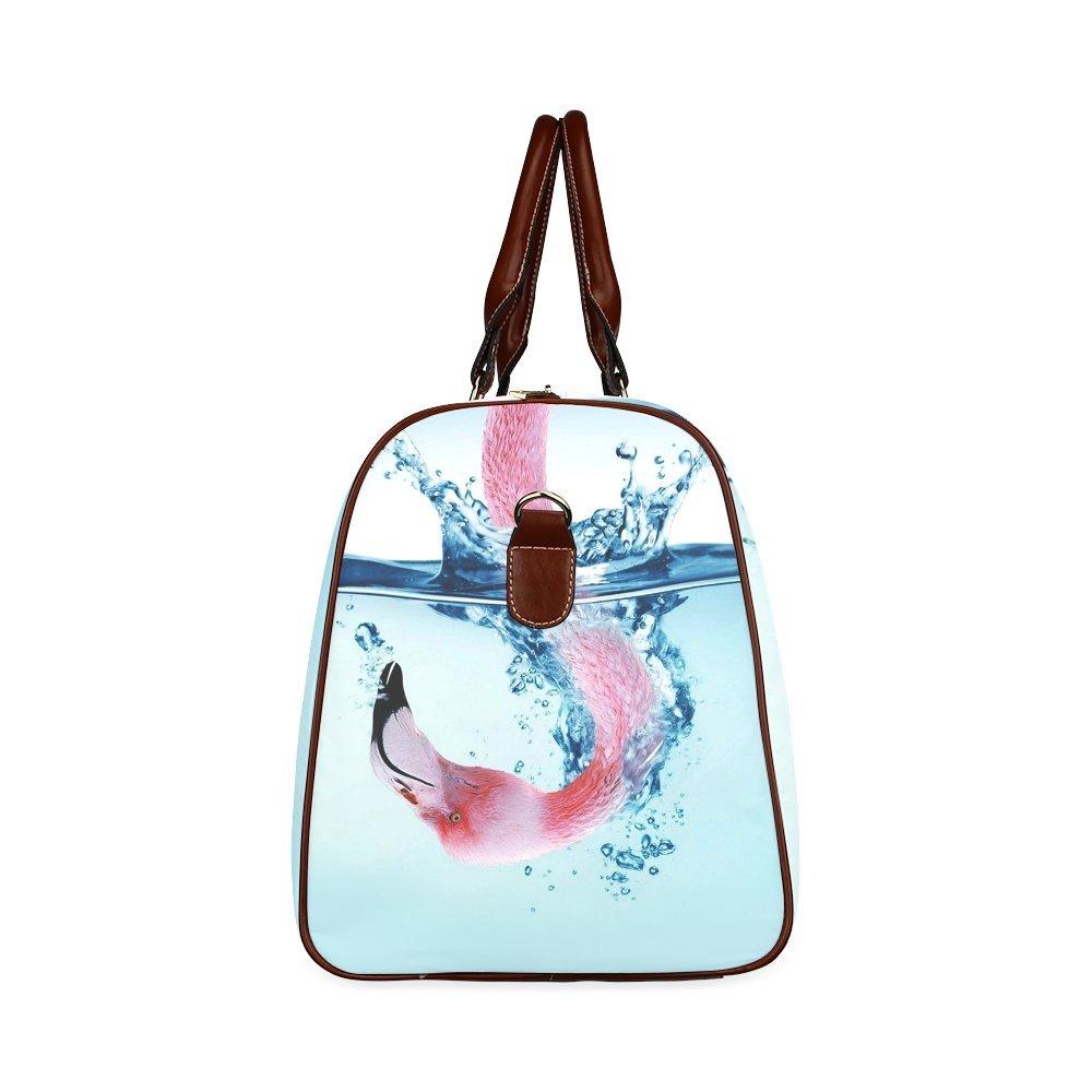 Custom Flamingos Waterproof Travel Tote Bag Duffel Bag Crossbody Luggage handbag