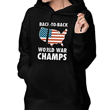 NOT Back to Back World War Champs Mens Fashion Hoodie Sweatershirt Hooded Black