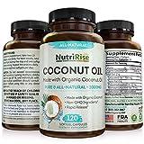Coconut Oil Capsules 2000 MG. 100% Pure Extra Virgin Coconut Oil. Natural Cold Pressed Coconut Oil. Non-GMO, Unrefined Coconut Oil Rich in MCFA and MCT. 120 Softgels. Made in USA