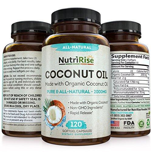 Coconut Capsules Natural Unrefined Softgels