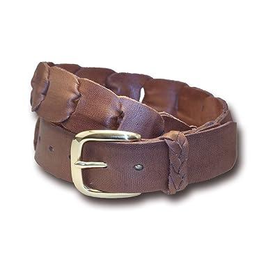 2c447c7f9565b Amazon.com: Barmah Hats Kangaroo Leather Belt - 2251BR: Clothing