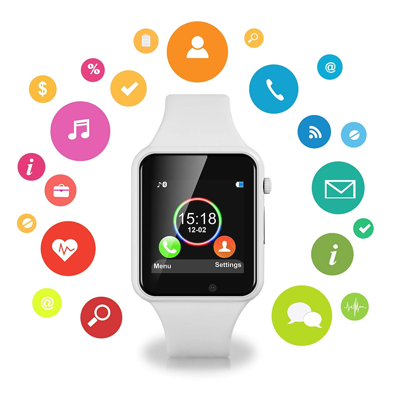 Amazon.com: Smart Watch Kkcite Bluetooth Pantalla Táctil ...