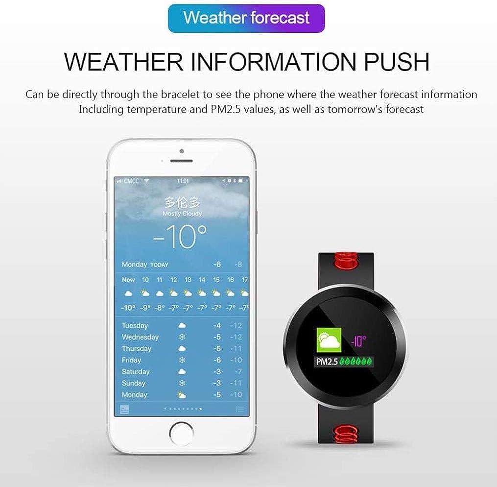 Fitness Tracker, IP68 fréquence Cardiaque Pression artérielle SmartWatch étanche Moniteur Bluetooth Intelligent Montre, Blanc Blanc