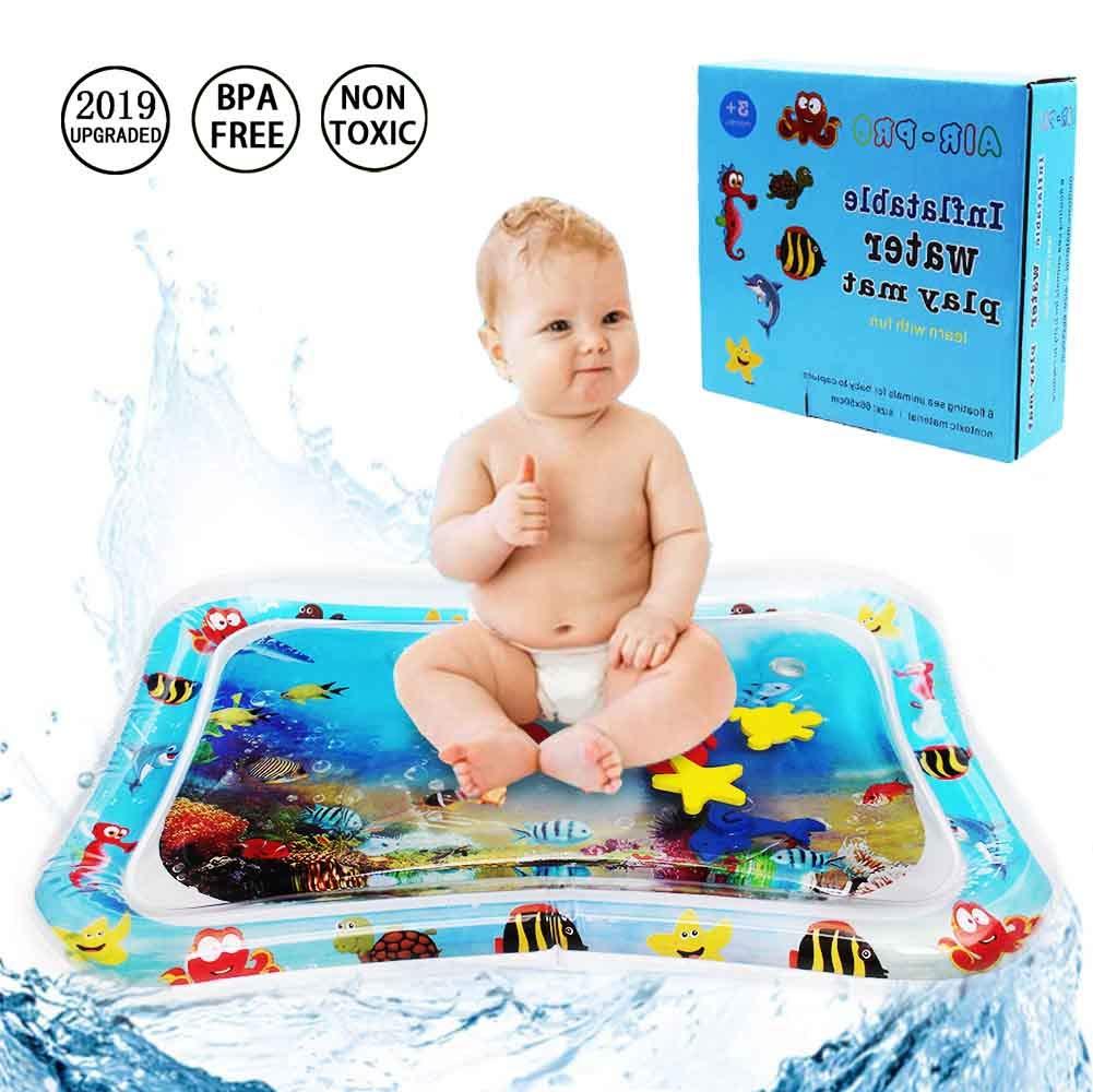 Juego del Beb/é Estera de Agua Alfombra de Agua para Beb/és Aprende con los Juguetes del Centro de Actividades Divertidas Inflable y llenado de Agua A Prueba de Fugas y Sin Olor Parque Acuatico