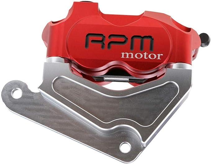 Parti Powersports Supporto staffa adattatore del motociclo Pinza freno for Honda Dio Af 18//27//28//34//35 for Rpm Adelin Frando 82 millimetri radiale for 200 millimetri Color : BLACK 220MM