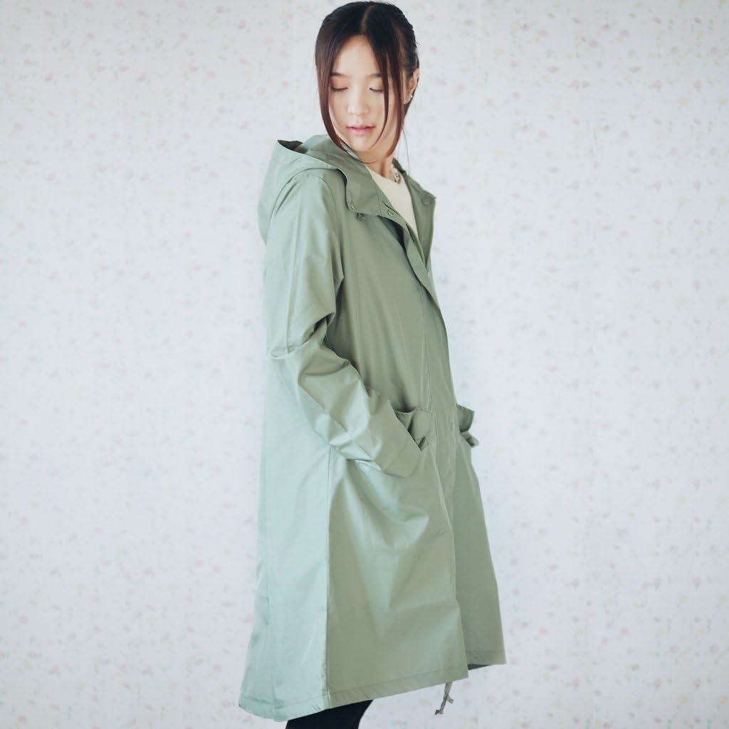Derkang Fashion Stylish Ladies Hooded Raincoat Rain Jacket Rainwear Fast Dry Lovely Cute Lady Girl Woman