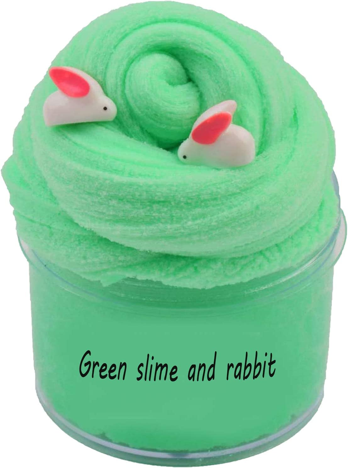 Super Soft and Non-Sticky HongFeng world Newest Cloud Slime,Easter RABIT Slime Stress Relief Toy for Kids and Adults About 8oz