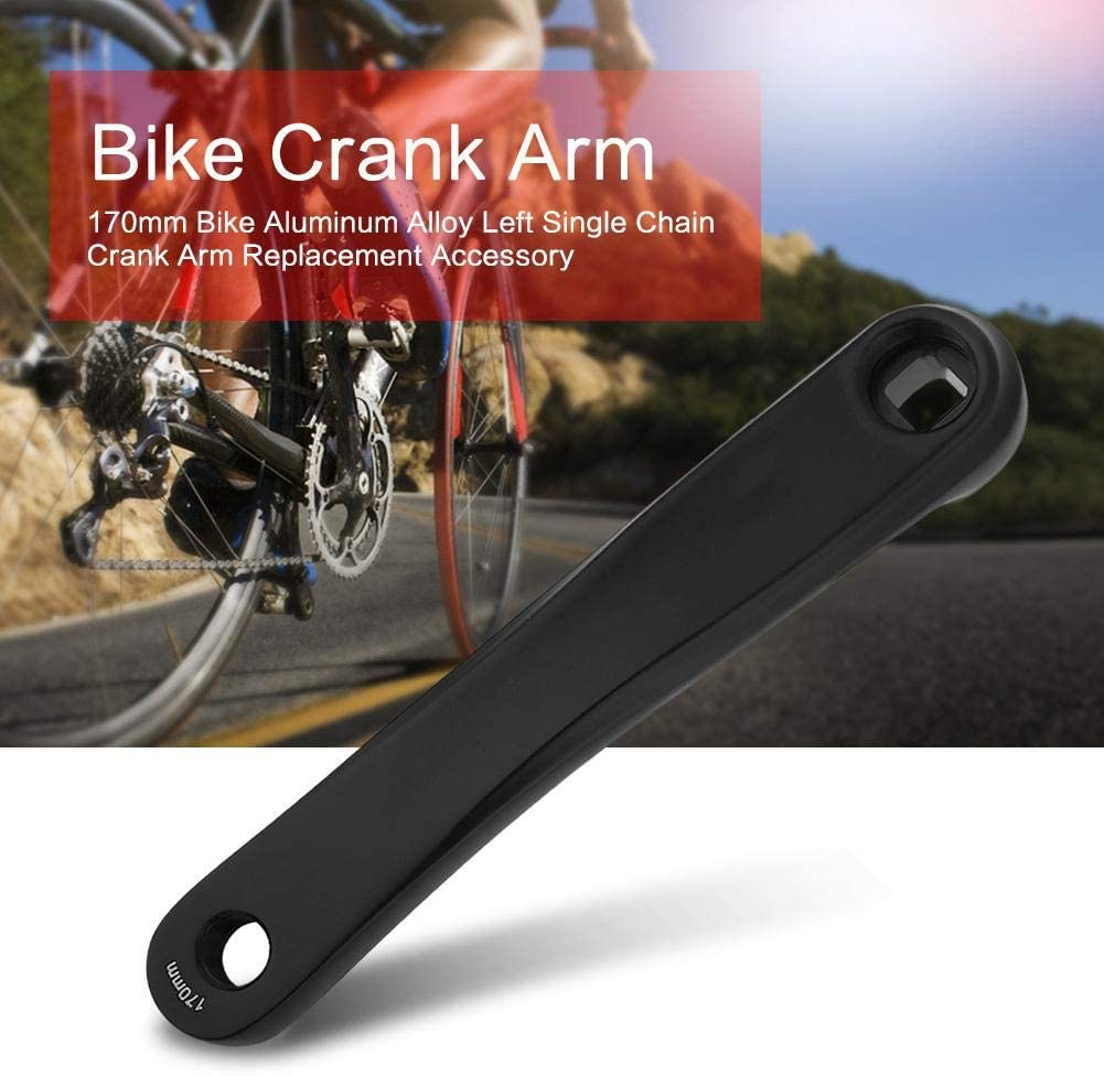 Bike Crank Arm Mountain Bike Aluminum Alloy Left Hand Crank Arm Horizontal Square Taper