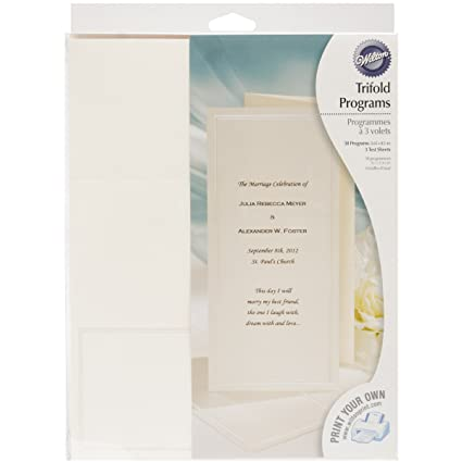 amazon com wilton ivory keeping with tradition trifold programs