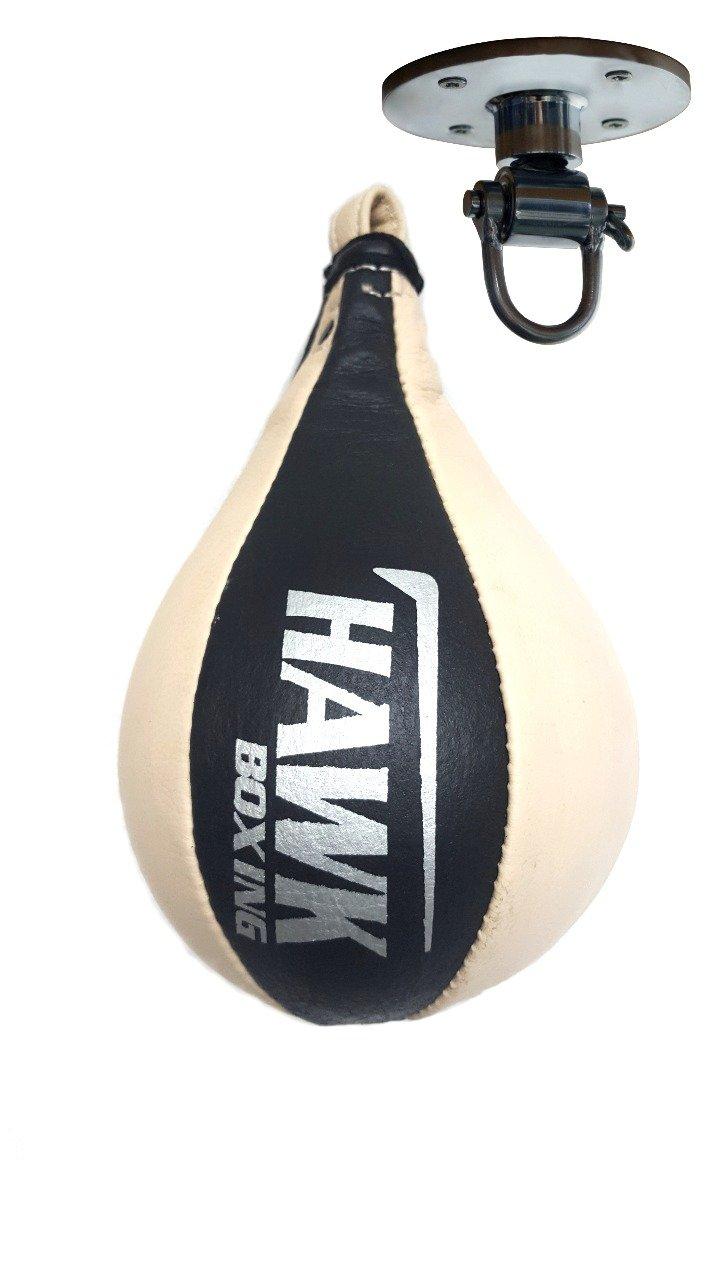 リアル Hawkボクシングスピードバッグwith Swivel Punching Swivel B072LBJSND Bag速度ボール、レザー、1年保証 Medium Punching B072LBJSND, SportsHEART-スポーツハート:6146e48d --- a0267596.xsph.ru