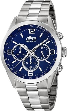 Lotus Watches Reloj Cronógrafo para Hombre de Cuarzo con