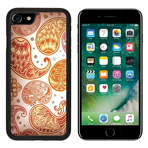 iPhone 7 iPhone7 Aluminum Backplate Bumper Snap Case IMAGE ID: 5898599 Paisley Pattern 4