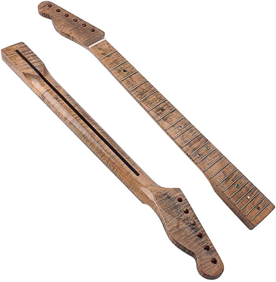 Tap Keyboard InstrumentStylish 21 Fret Wooden Neck Replacement Parts Accessories for TL Electric Guitar HaHawaii 21 Fret Electric Guitar Neck